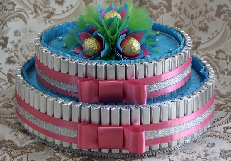 днем рождения торт из конфет своими руками пошаговые фото как играть