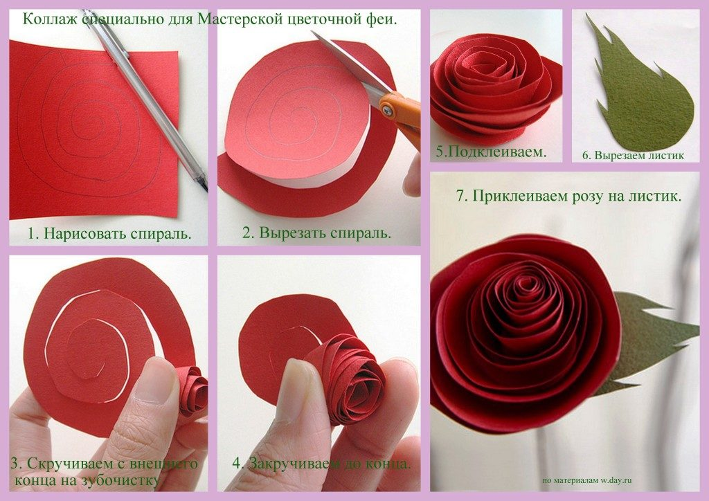 нашем партнёрском розы спираль из бумаги пошагово фото чтобы все строения