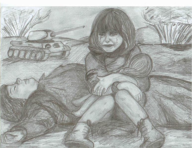 Война рисунки детей картинки